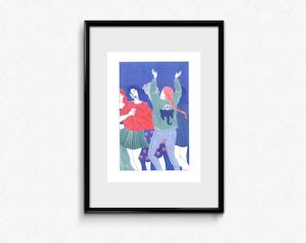 Ganesh party - riso print