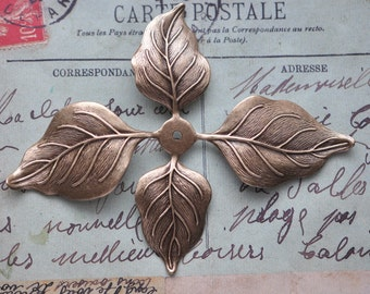 Pliable Brass Leaves with 10mm Bezel, Brass Ox, Bracelet Base, Brass Stampings Made in the USA