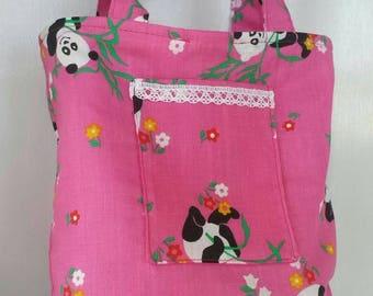 Pink Panda Handbag