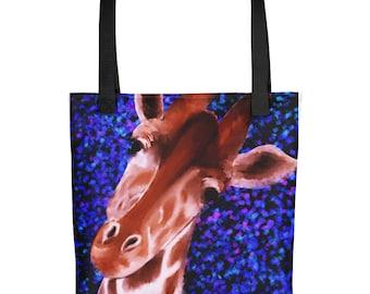 Tote bag Giraffe Portrait