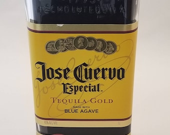 Jose Cuervo Tequila Recycled bottle candle (Sandelwood Scent)