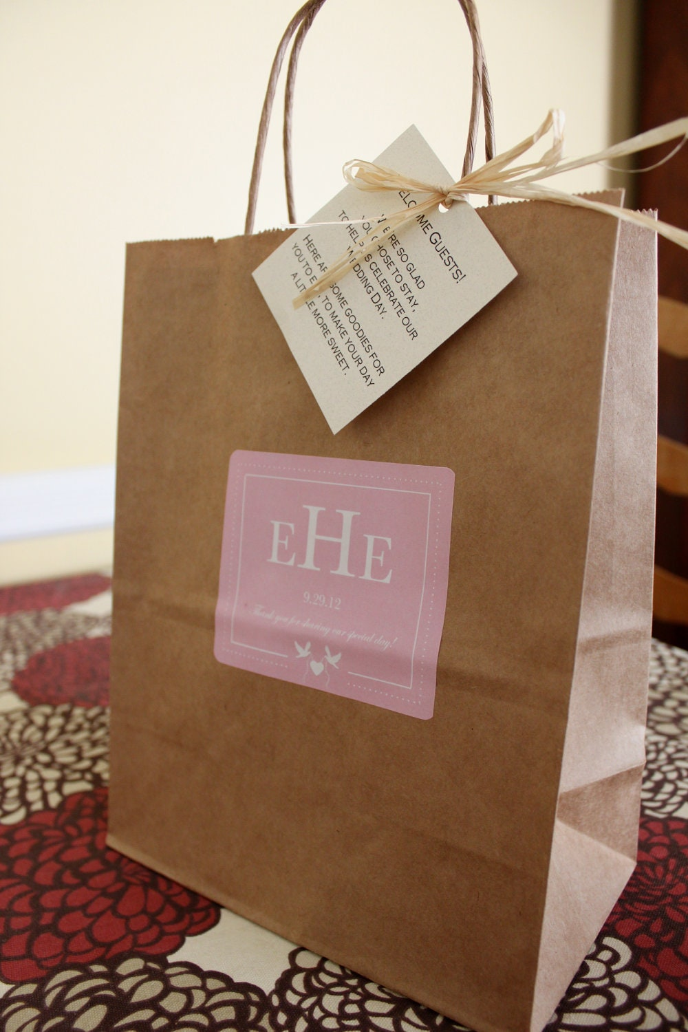 Wedding Welcome Bags Out Of Town Guest Bags Love Birds and