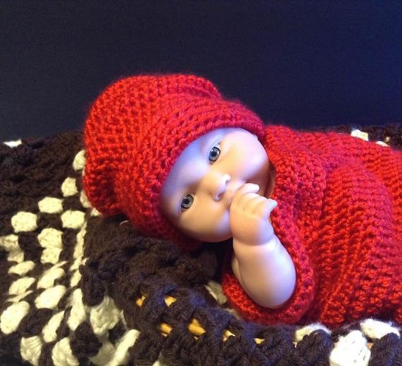 Bebé capullo patrón bebé sombrero patrón/del ganchillo del