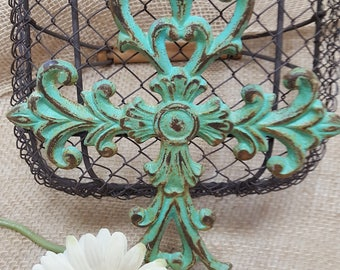 Vintage Inspired Wall Cross ~ Gallery Wall Cross ~ Patina Wall Cross ~ Metal Wall Cross ~ Decorative Wall Cross ~ Ornate Metal Wall Cross