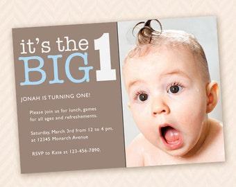 Custom First Birthday Party Invitation for Boy or Girl