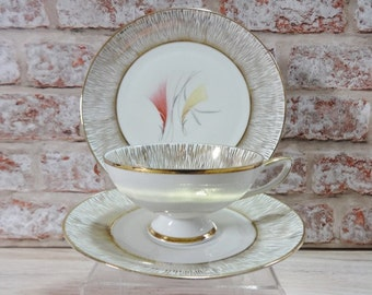 Pretty Vintage Winterling Roslau Bavaria Cup and Saucer side plate Trio