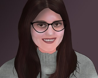 Hand drawn digital portrait
