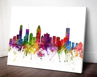 Montreal Skyline Canvas Print, Montreal Art, Montreal Wall decor, Montreal Cityscape, Home Decor, Gift Idea, CAQCMO06C