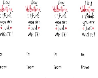 Just Write Valentine's Day Printable