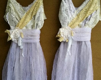 Bridesmaid dress style or wedding dress- lace chiffon overlay bodice- made to order