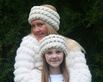 Cabled Crochet Ear Warmer