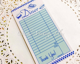 Diner Mini Order Receipt - Junk Journals, Scrapbooking, Crafting, Embellishments