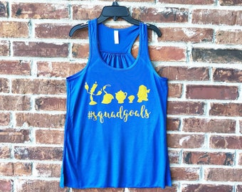Squad Goals, Disney Tank, Run Disney, Beauty and the Beast, Beauty and the Beast Squad Goals, Disney Womens Tank Top, Disney Squad Goals