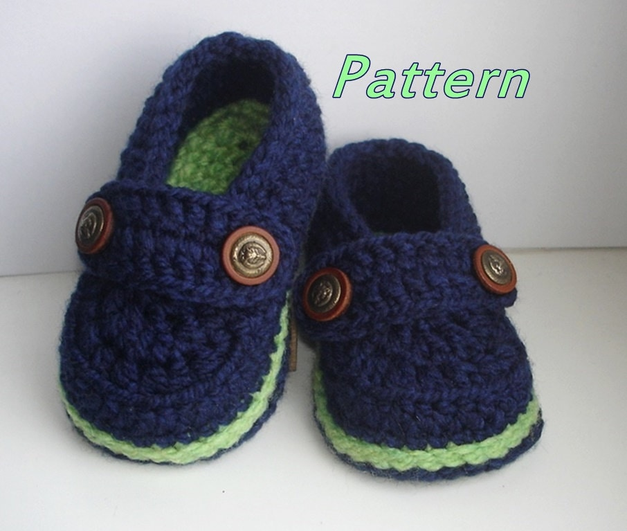 Easy Crochet Pattern Baby Loafers Baby Booties Crochet