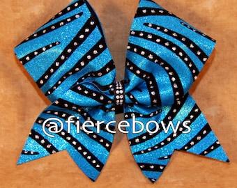 Wild Blue Yonder Cheer Bow