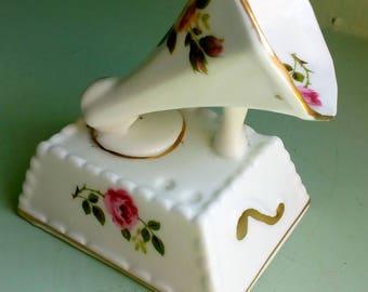 Cottage Rose China Gramophone