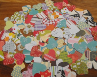 Punched and Die Cut Hearts made from Quality Patterned Scrapbooking Paper Pack 50