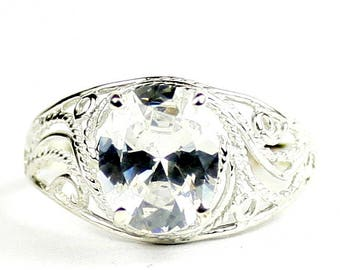 Cubic Zirconia, 925 Sterling Silver Ladies Ring, SR083