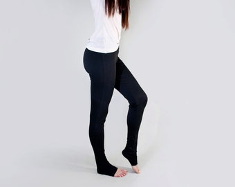 Yoga Leggings • Extra Long Length Covers Foot • Petite and Tall Length • Ethically made in our USA loft • L415 & Co Clothing (#415-34)