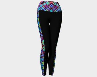 Yoga Legging Multi Color Stripe