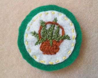 Houseplant Patch - Basket Fern (Patch, Pin, Brooch, or Magnet)