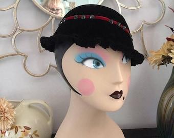 Final Strawbridge and Clothier Black Velvet Hat
