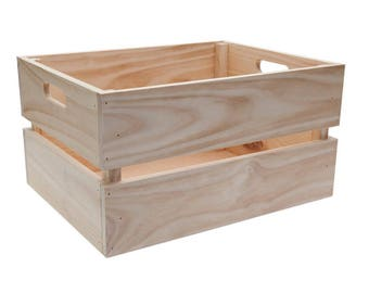 FRUIT BOX Large - wooden crate, wooden box
