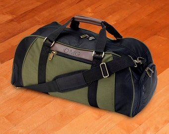 Personalized Logan Deluxe Duffel Bag - Monogrammed Gym Bag - Groomsmen Gift - Father's Day Gift - GC294