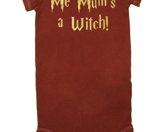 CLOSEOUT, ONLY 12.00!!!, Me Mum's a Witch, Baby Bodysuit, Harry Potter