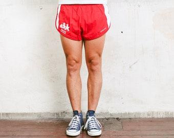 Sprinter Shorts . Red Split Shorts Sports Shorts Men's 90s Sportswear Unisex Summer Shorts Vacation 1990s Swim Trunks . size Extra Large XL