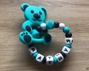 """Silicone teething ring - """"Leon p' little bear"""""""
