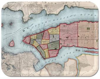 "Manhattan 1840 Map Tray 16 1/2""x12 1/2"""