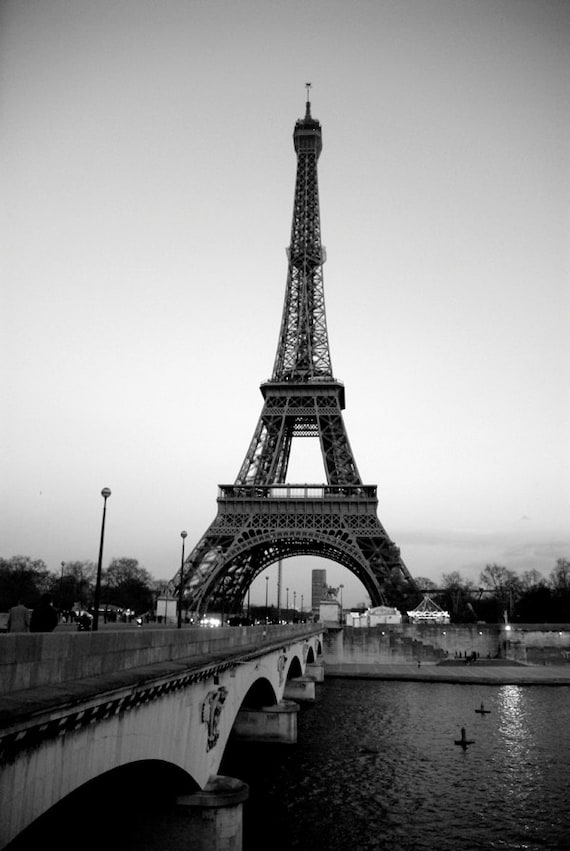 Items similar to paris architecture photography landscape photograph black and white fine art print living room decor eiffel tower still life photograph
