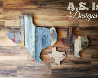 Reclaimed Wood Texas,  Rustic Wood Texas Decor, Texas Wall Decor, Unique Texas Decor, State Of Texas, Wood Sign, Farmhouse Decor, Wood Texas