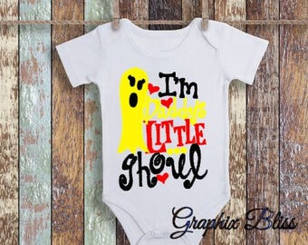 First Halloween I'm Daddy's Little Ghoul Girl Boy Baby One Piece, Romper, Infant Bodysuit, Baby Shower Gift, Infant Clothing