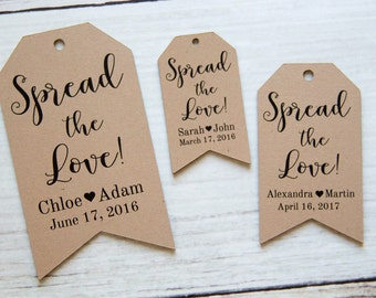 Spread the Love Tag - Jam Wedding Favor - Honey Wedding Favor - Spread Wedding Favor - Wedding Favor Ideas - Custom Tags - MEDIUM
