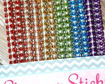 Rainbow Mix Shimmer Sticks - NEW TREND ALERT - Glam for Lollipops, Cake Pops and All Things Party