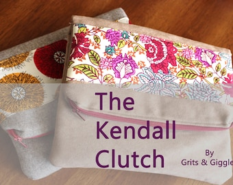 PDF Sewing Pattern- Kendall Clutch- Instant Download