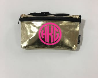 Personalized Metallic Fanny Packs