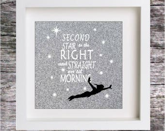 VINYL STICKER for DIY Box Frame Peter Pan and Tinkerbell themed - Sticker only