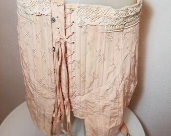 FREE  SHIPPING     1930 Corset   with  Garters