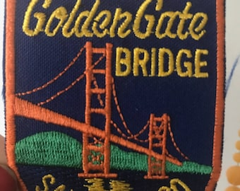 Vintage Golden Gate Bridge San Francisco Patch Souvenir