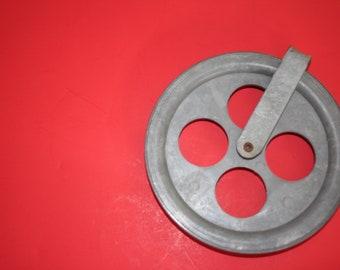 VINTAGE metal pulley