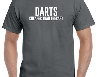 Darts Shirt-Darts Cheaper Than Therapy Darts Gift Men Women