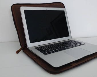 Real leather Laptop Case-PC case and genuine leather documents
