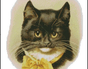 VINTAGE CAT cross stitch pattern No.247