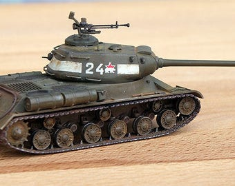 IS-2  Russian tank 1/72 World War 2 gift world of tanks (to order)