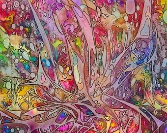 A4 print of original abstract alcohol ink painting