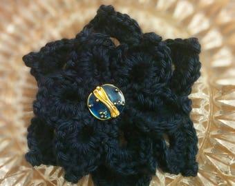 Crochet Brooch / Night Blooming Brooch / Flower Brooch