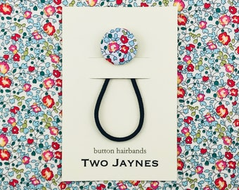 Spring Button Hairband - LIBERTY Tana Lawn Eloise Floral Fabric